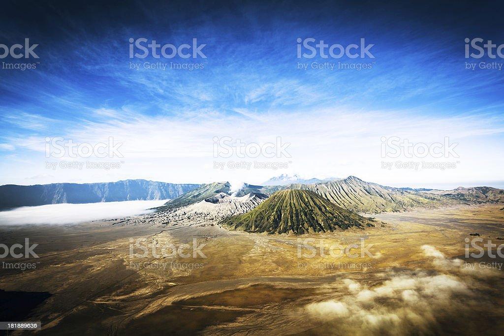 Bromo Tengger Semeru National Park Vulcanos, Indonesia stock photo