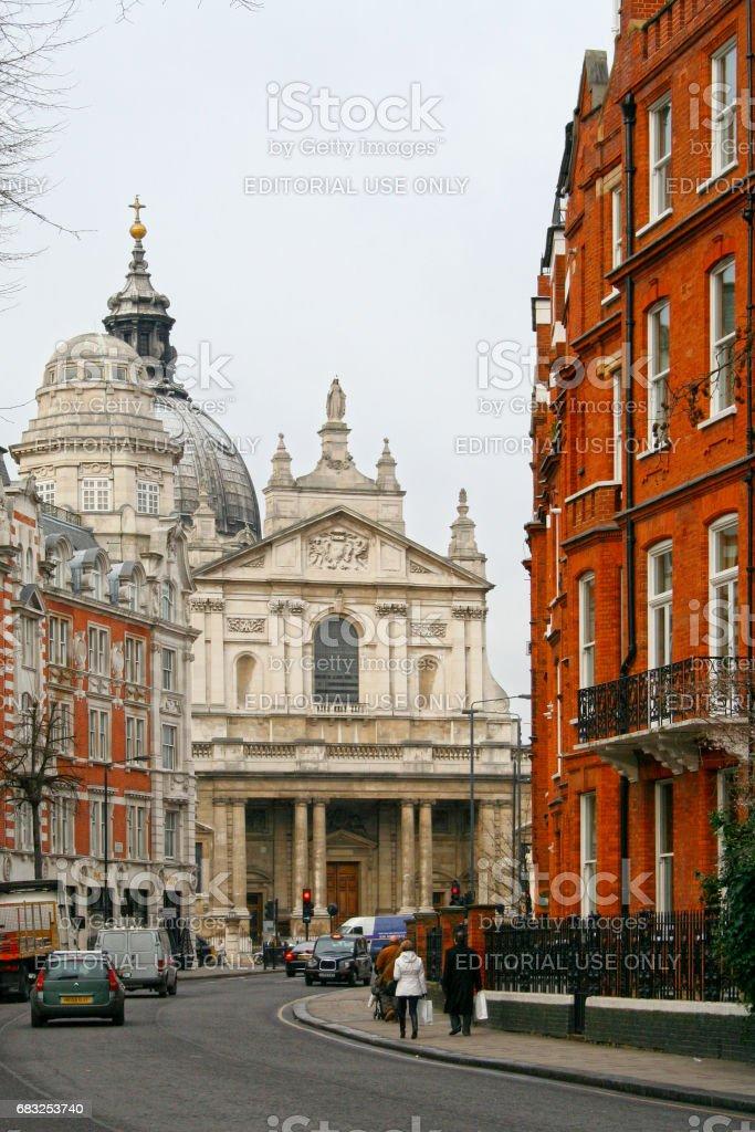 Brompton Oratory in London stock photo