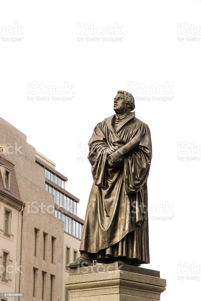 Bronce Statue of Martin Luther stock photo