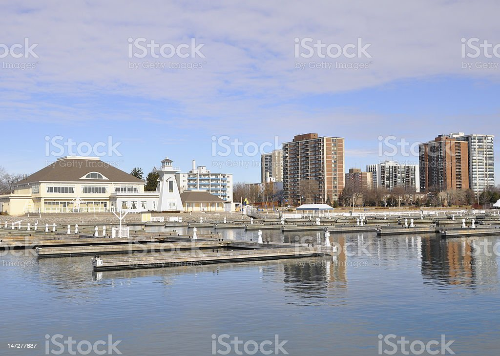 Bronte Harbor stock photo
