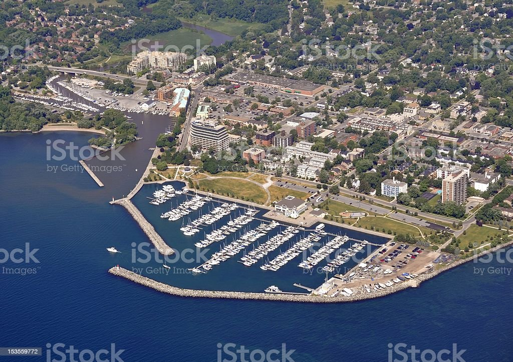 Bronte Marina aerial stock photo