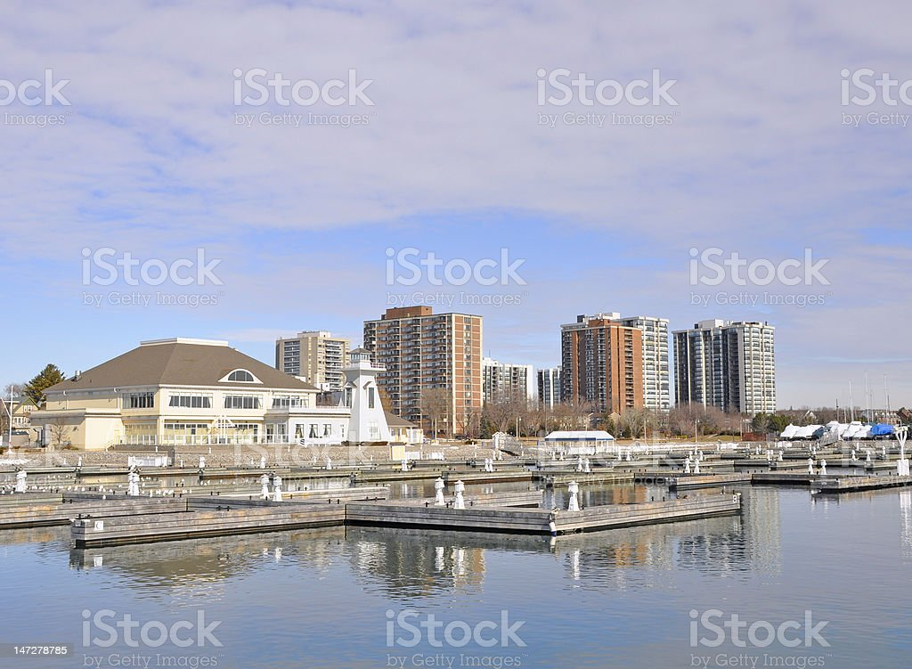 Bronte Marina Spring stock photo