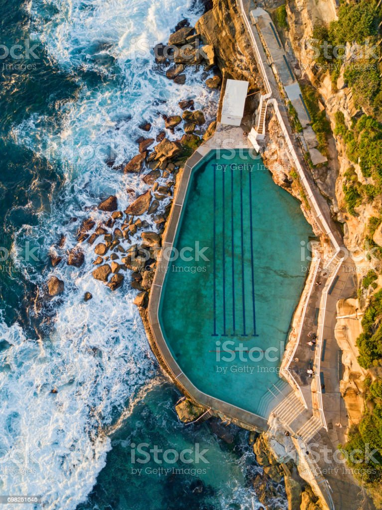 Bronte rock pool stock photo