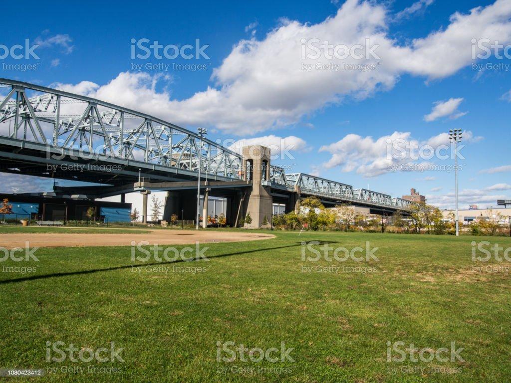 Bronx Kill Bridge in New York stock photo