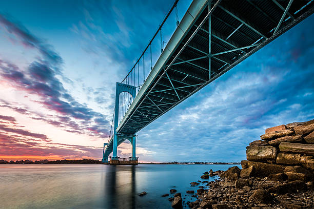 Bronx Whitestone Bridge stock photo