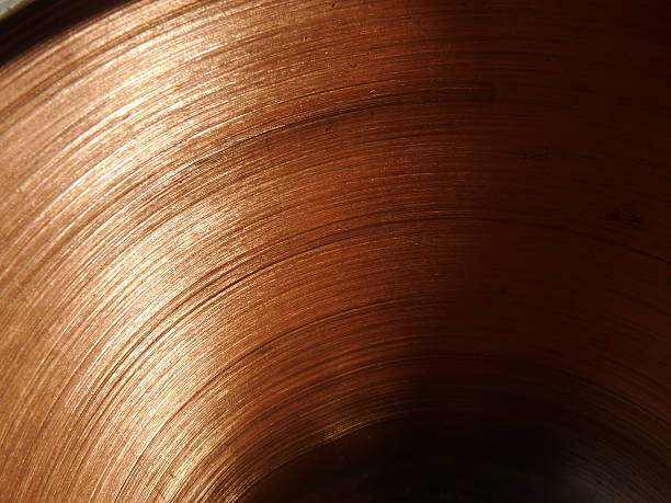 Bronze and copper tubular pattern stock photo