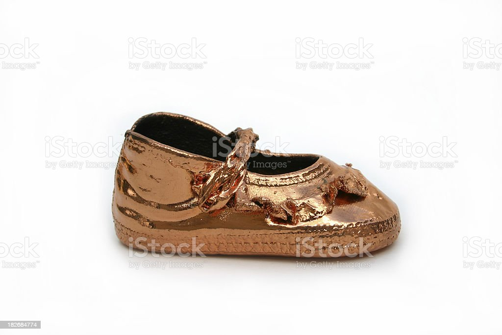 Bronze Baby Shoe royalty-free stock photo