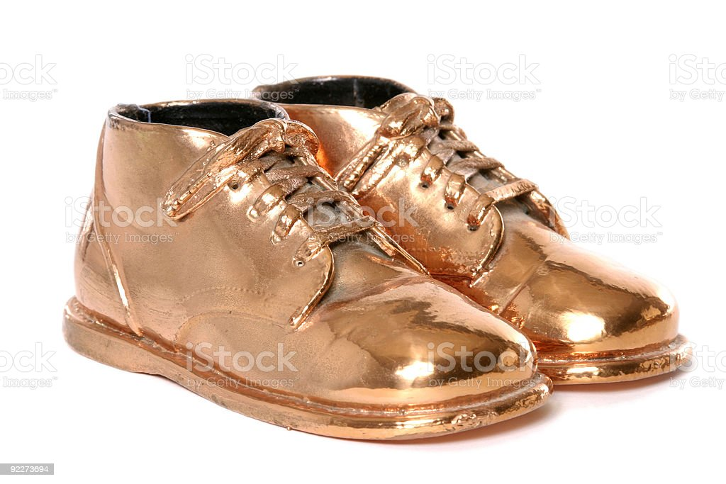 Bronze Baby Shoes royalty-free stock photo