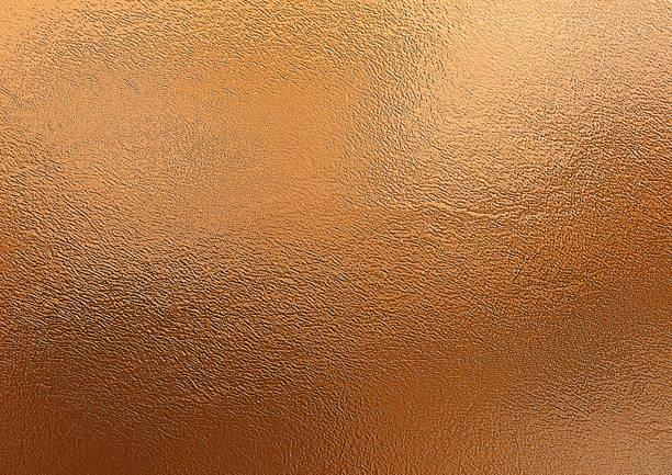 bronze background. metal foil decorative texture - rame metallo foto e immagini stock