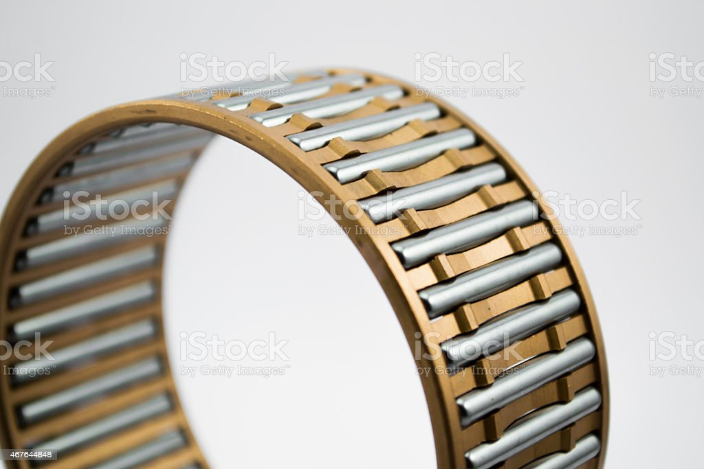 bronze bearing cage close up stock photo