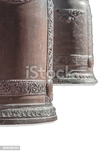 istock Bronze Bells in Buddhist Temples in Thailand 639088484