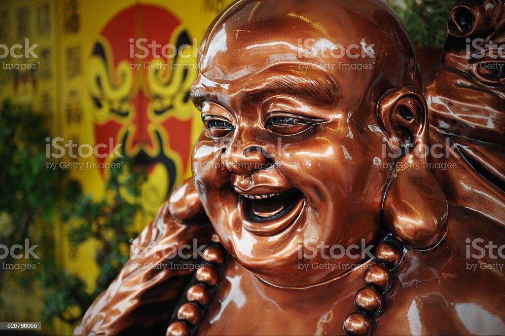 Bronze Budai Statue or The Happy Buddha stock photo