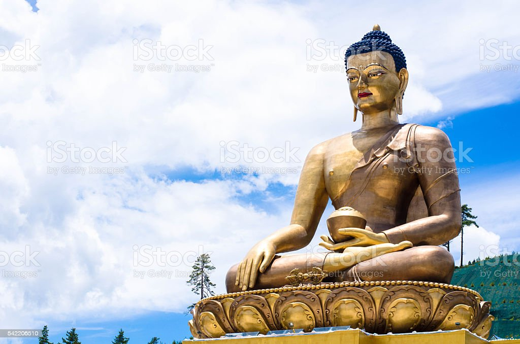 Bronze Buddha Dordenma Statue in Thimphu stock photo