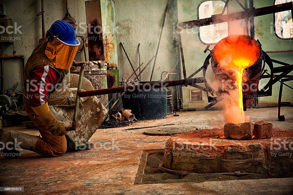 Bronze Casting in Italy. stock photo