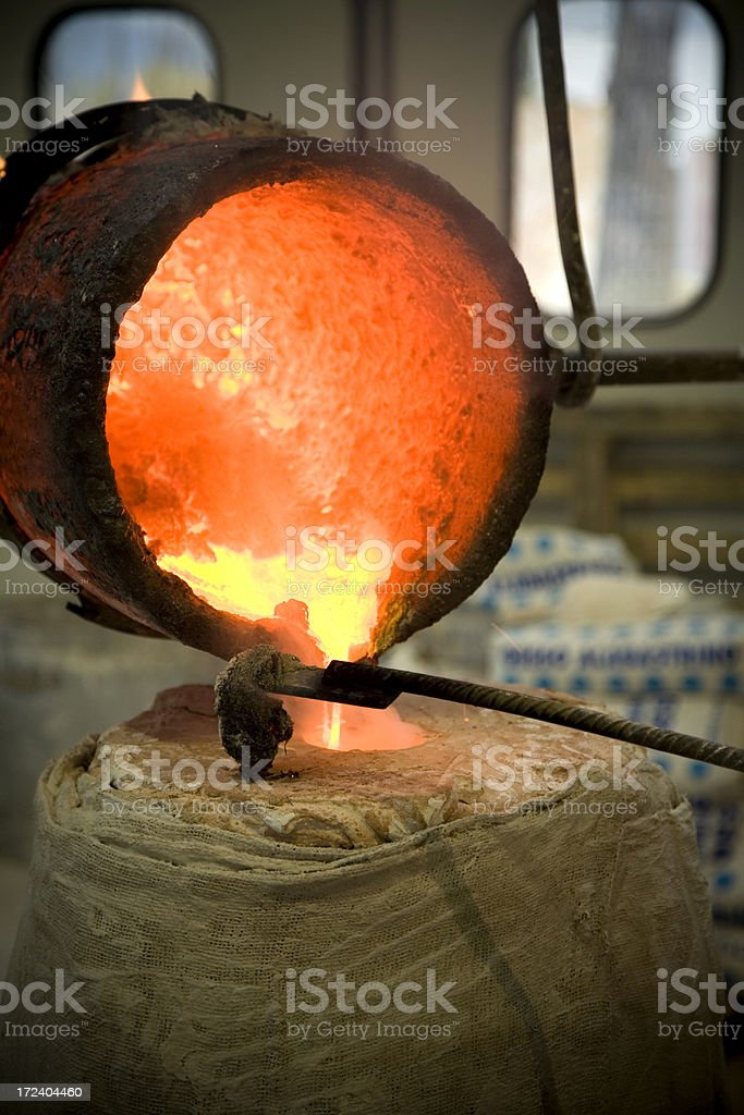 Bronze Casting.... royalty-free stock photo