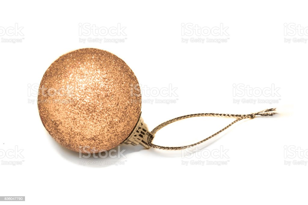 Bronze colored Christmas bauble stock photo