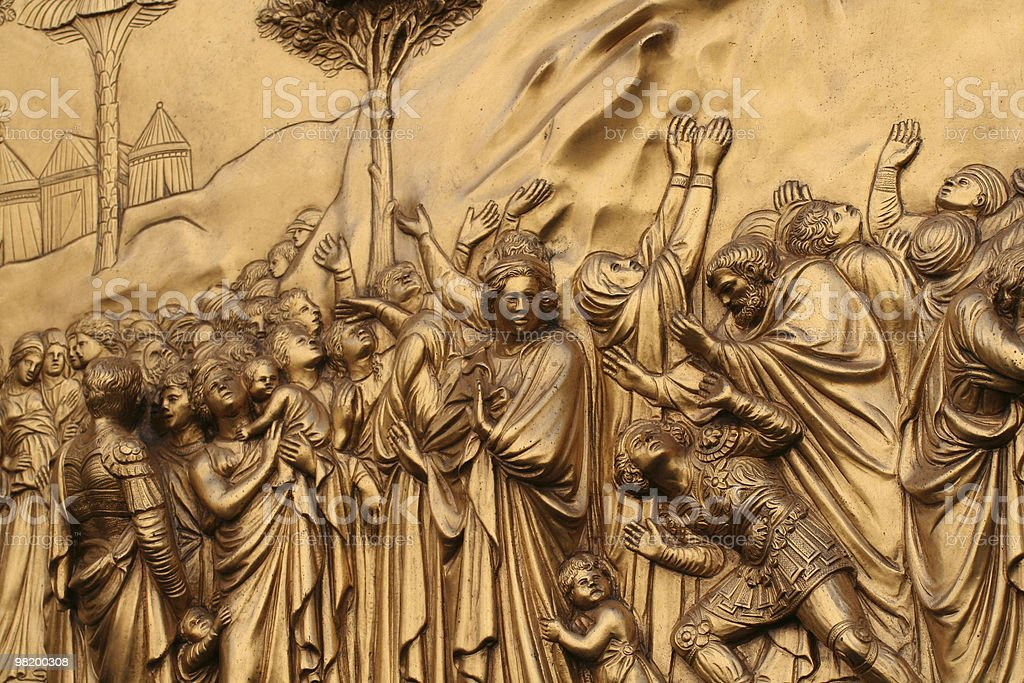 bronze detail royalty-free stock photo