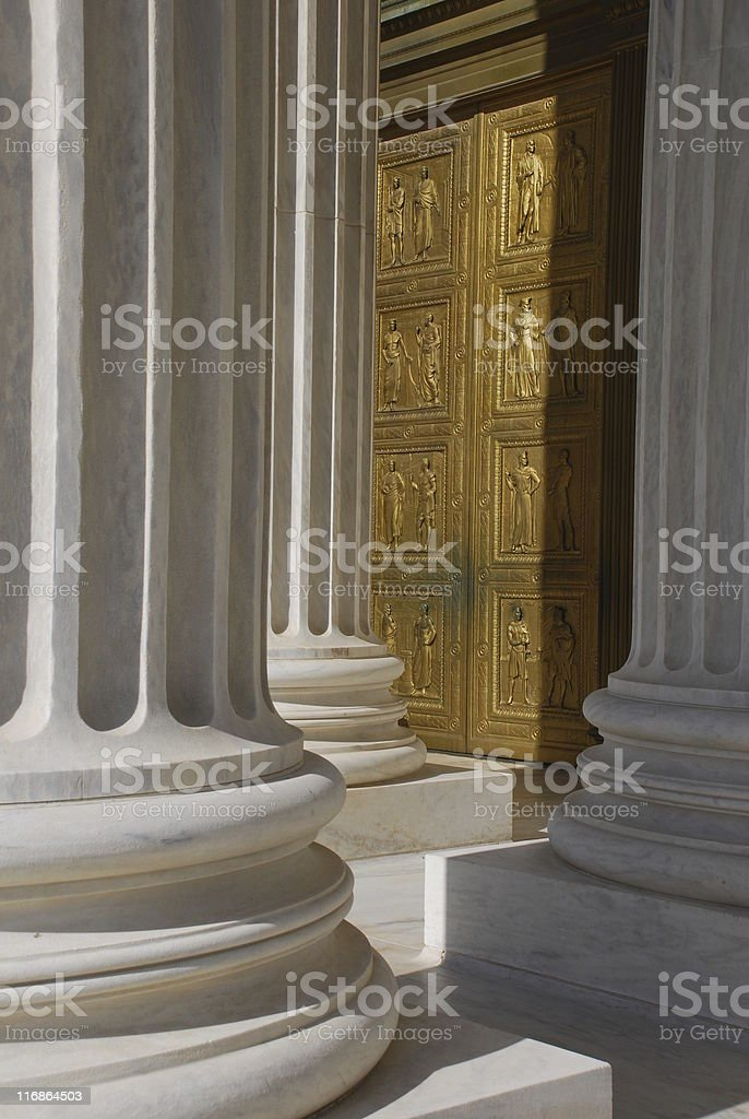 Front Door to US Supreme Court royalty-free stock photo