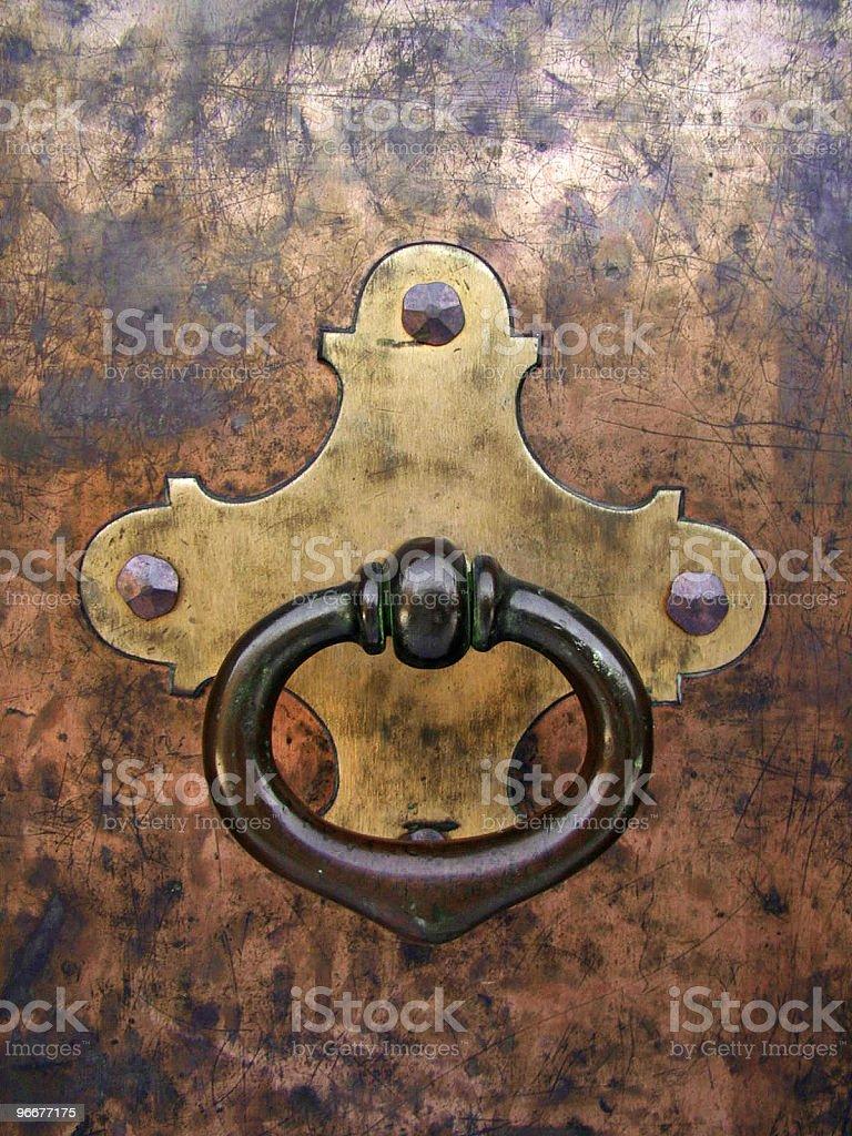 Bronze Door Knocker royalty-free stock photo