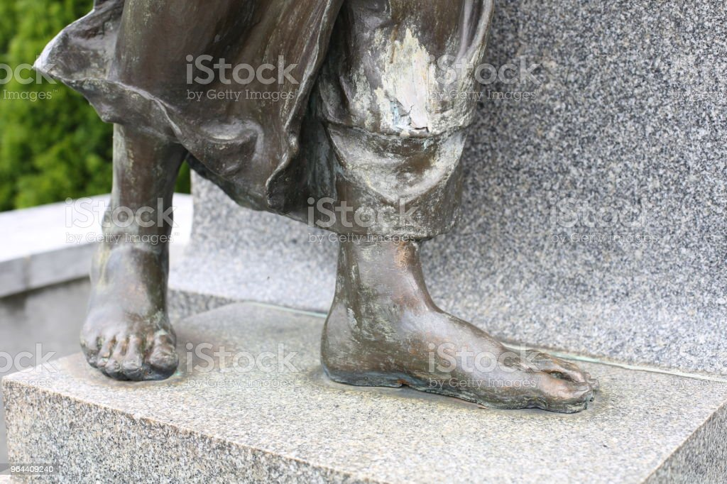 Bronze Feet on a Sculpture - Royalty-free Abstract Stock Photo