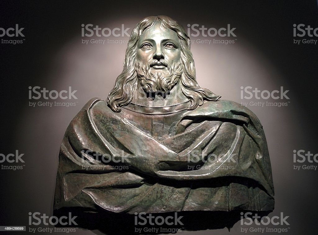 Bronze Figure of Jesus Christ, St. Johns Co-Cathedral, Valetta, Malta royalty-free stock photo