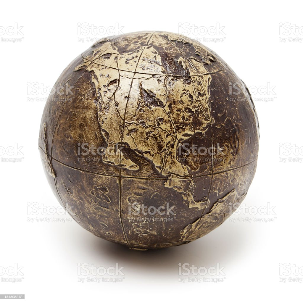 Bronze globe royalty-free stock photo