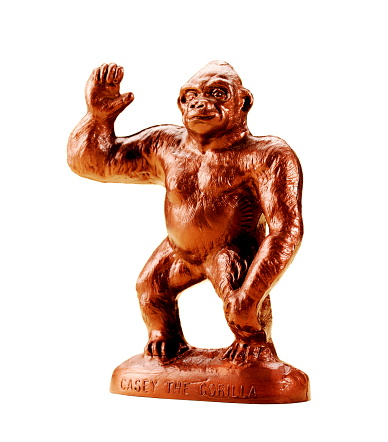 Bronze Gorilla Waving