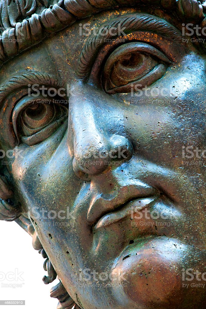 Bronze Head of Constantine Colossus stock photo