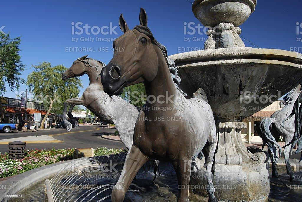 Bronze Horse Fountain stock photo