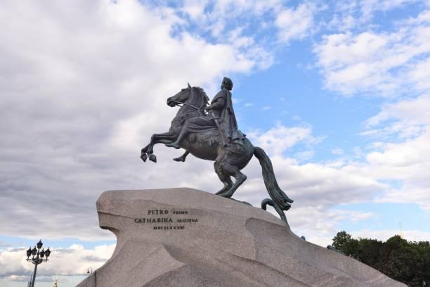 Bronzereiter von Peter dem Großen in Sankt Petersburg – Foto