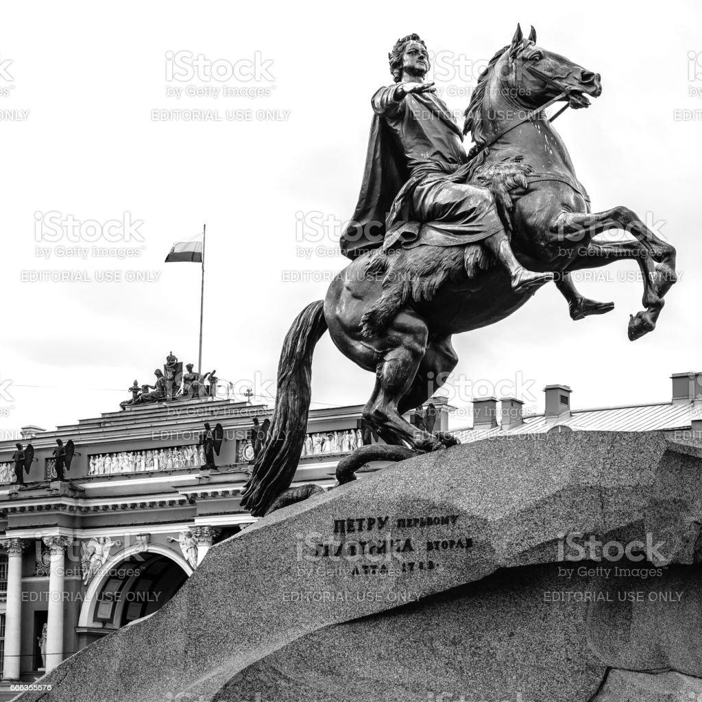 Bronze Horseman, St. Petersburg, Russia stock photo