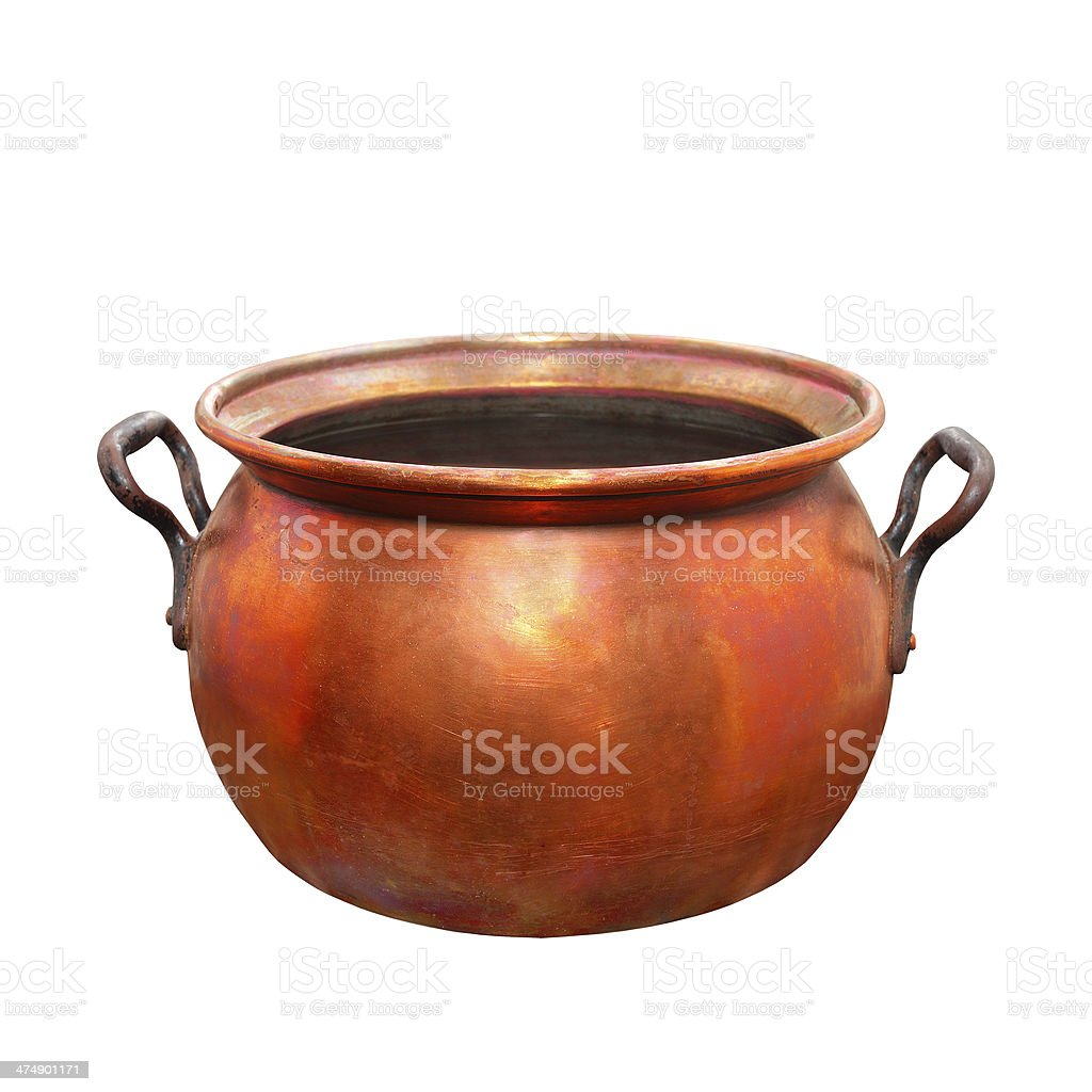 Bronze kettle. royalty-free stock photo