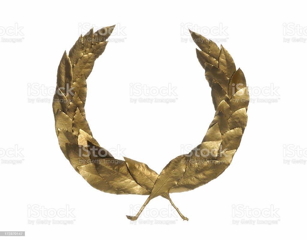 bronze laurel wreath stock photo