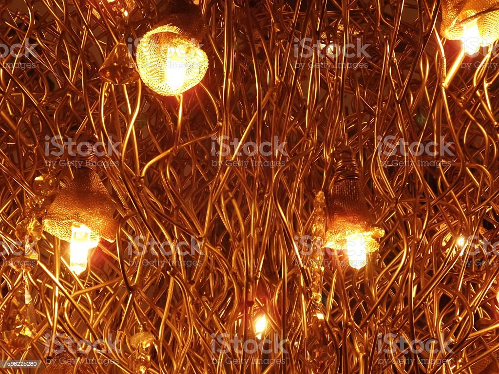 Bronze lights and wires. foto royalty-free