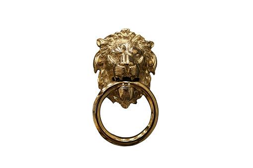 Bronze lion door knocker