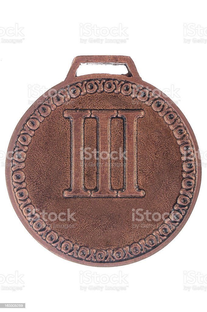 Bronze Medal with number 3 royalty-free stock photo