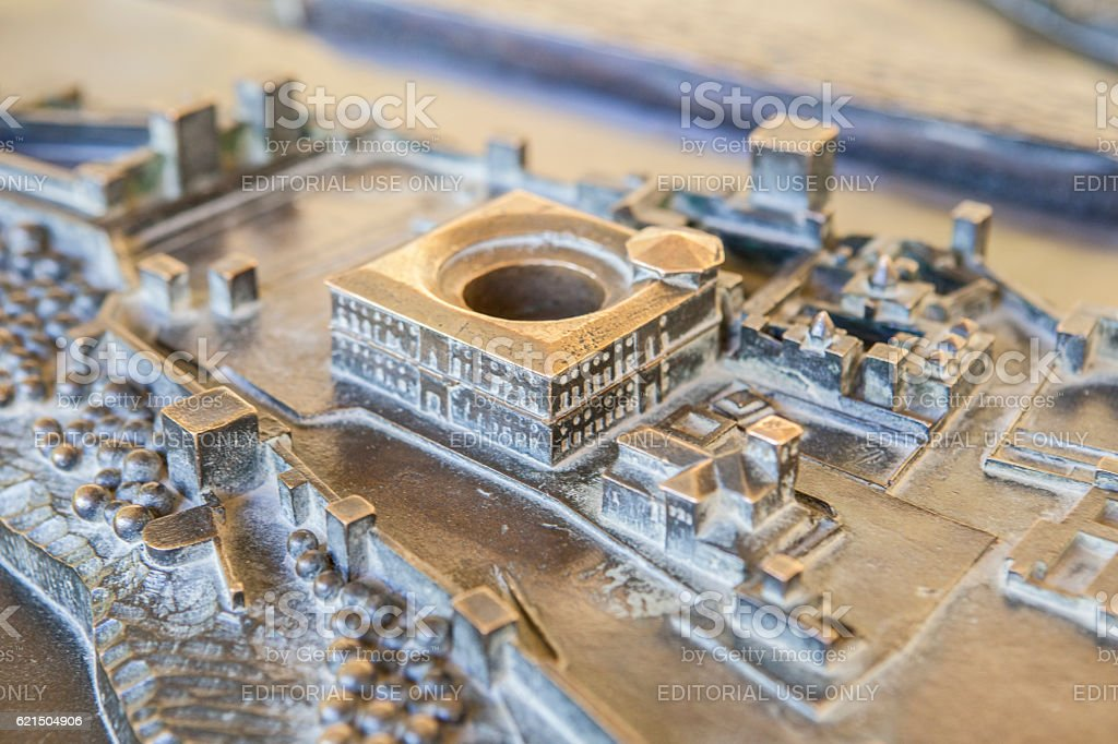 Bronze mockup of Alhambra Palace, Spain photo libre de droits