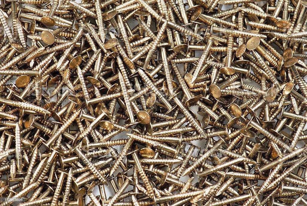 Bronze nails royalty-free stock photo