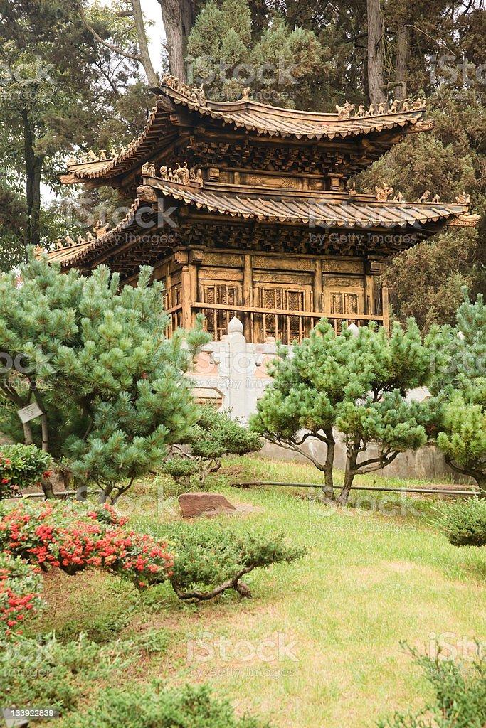 Bronze Pagoda. Buddhist Golden Temple, Kunming, Younnan province, South China royalty-free stock photo