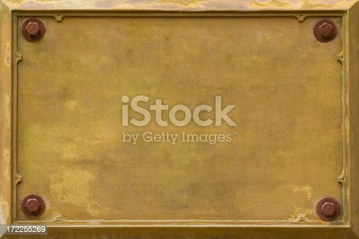 An old Bronze Plaque. Ready for YOUR text.