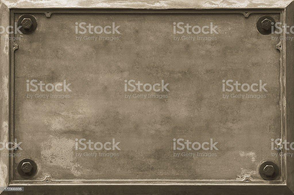 Bronze Plaque (sepia) royalty-free stock photo