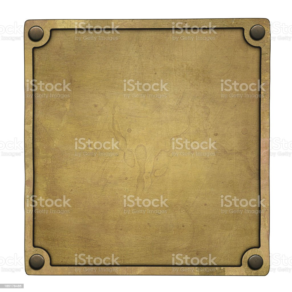 Bronze plaque stock photo
