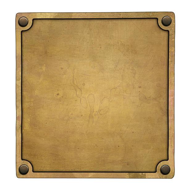bronze plaque - messing stockfoto's en -beelden
