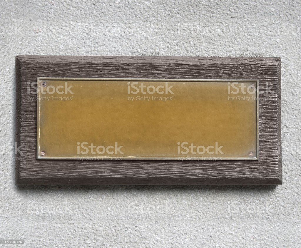 Bronze Plate royalty-free stock photo