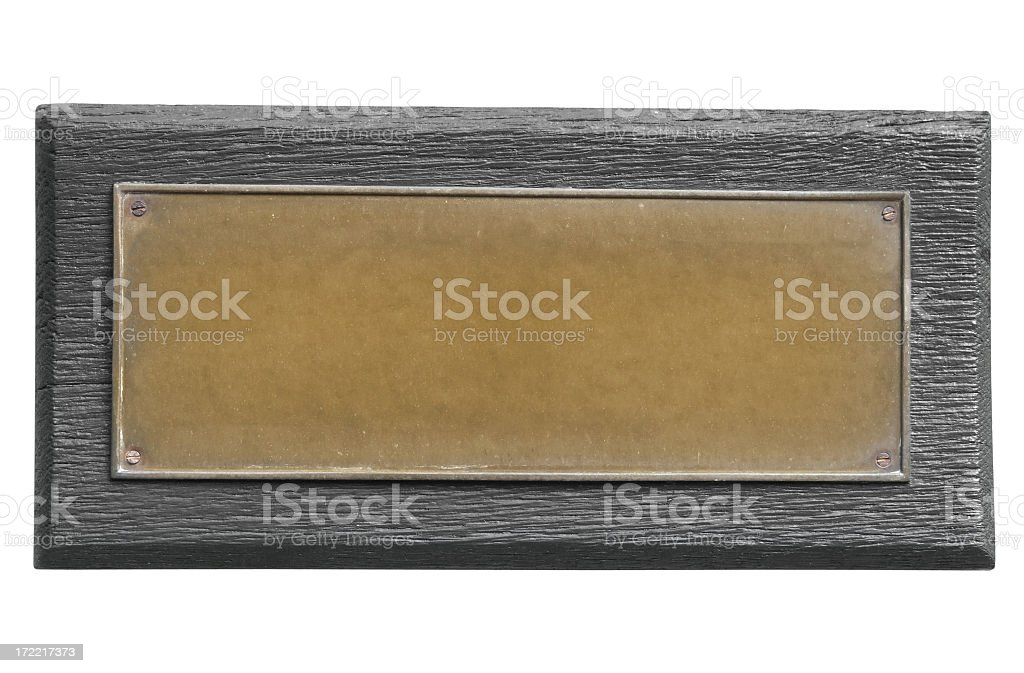 Bronze Plate royalty-free stock photo