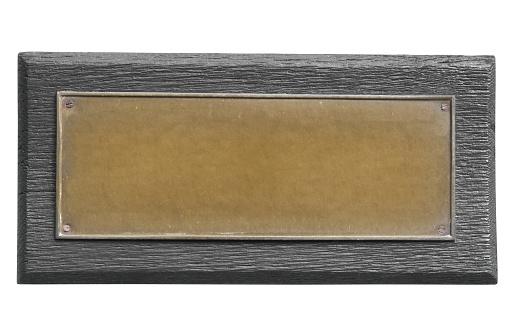 Blank antique bronze plate.