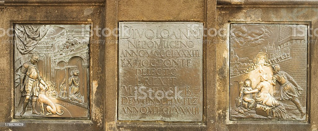 Bronze Relief Panels royalty-free stock photo