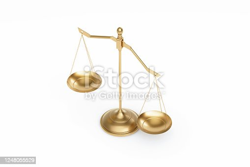 824305956 istock photo Bronze Scale Standing on White Background 1248055529