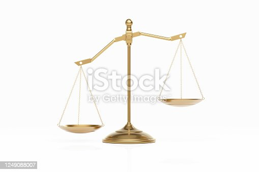 824305956 istock photo Bronze Scale Standing on White Background 1249088007