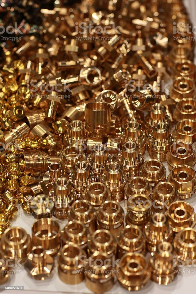 Bronze screws royalty-free stock photo